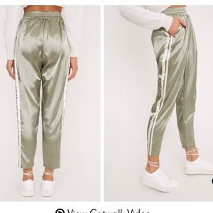Pretty Little Thing Sage Green Boxer Joggers